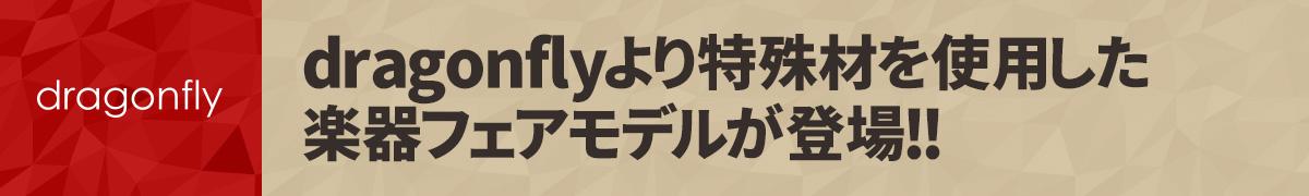 dragonflyより特殊材を使用した楽器フェアモデルが登場!!